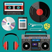 Music Icons Flat