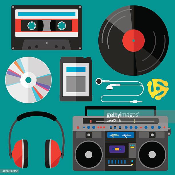 Íconos de la música plana