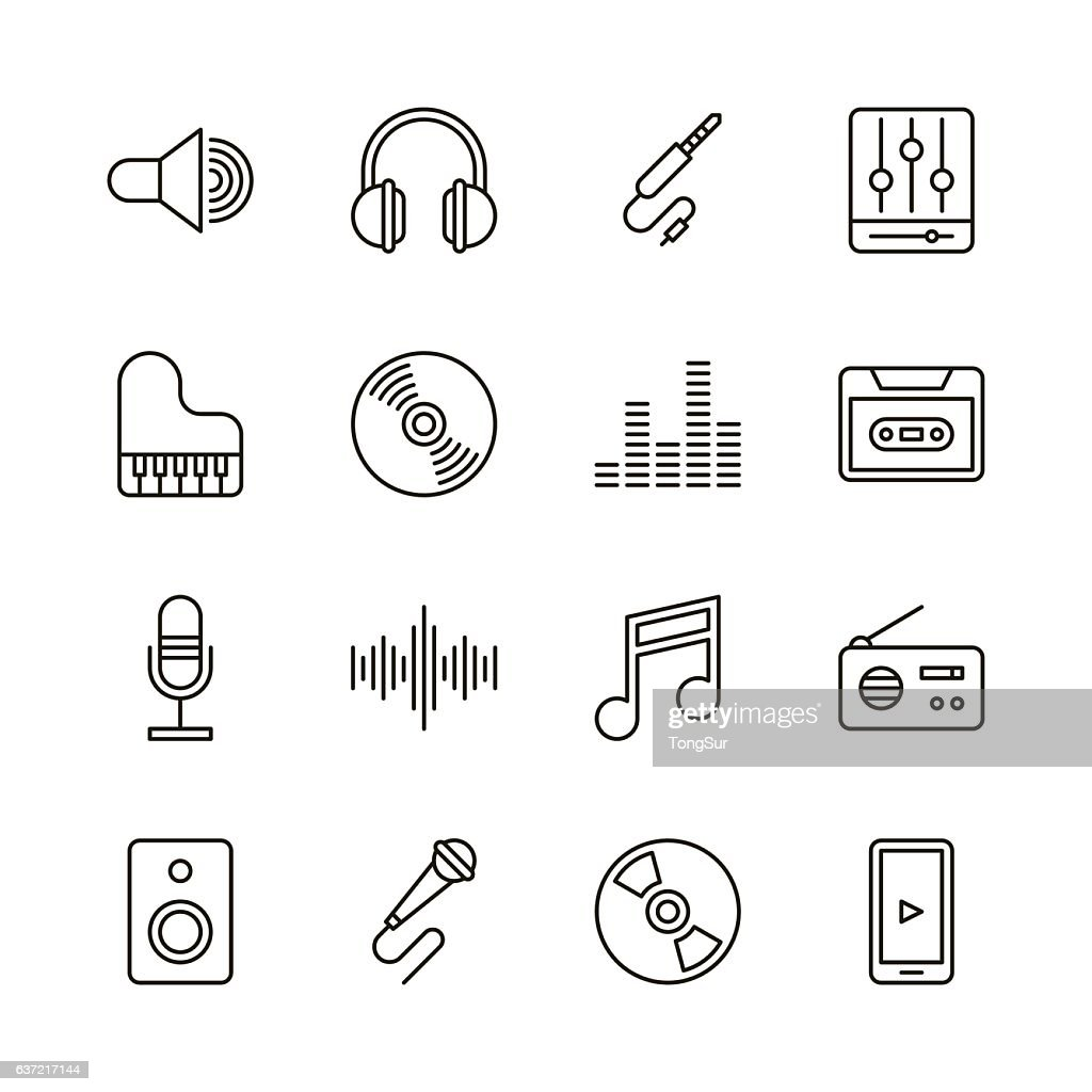 Music icons - Line Series : stock illustration