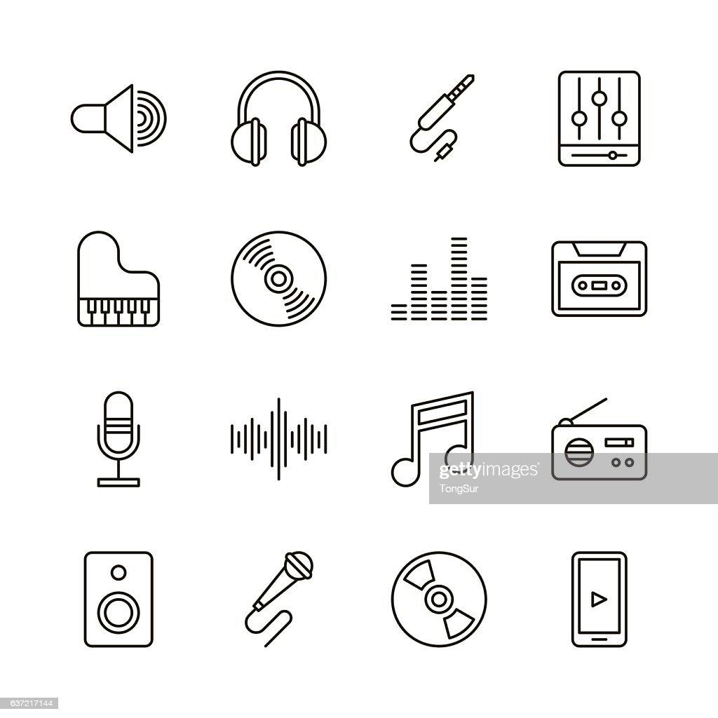 Music icons - Line Series