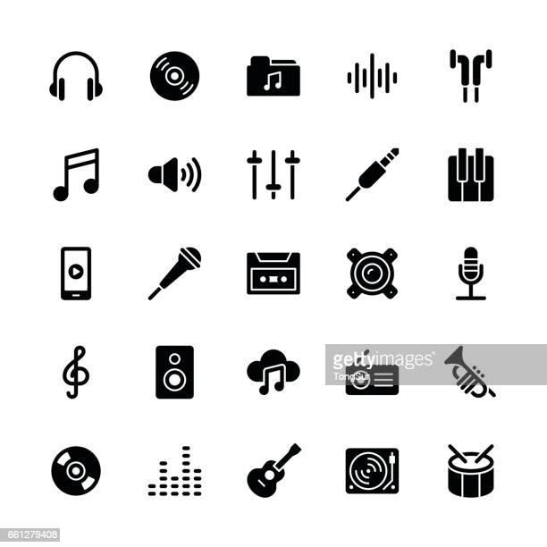 Music icons - Regular Glyph