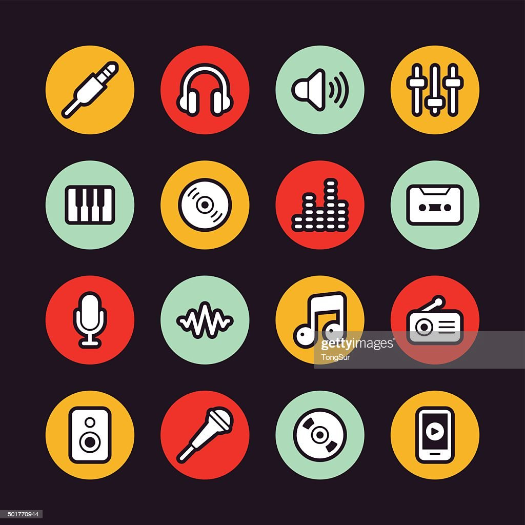 Music icons - Regular Outline - Circle