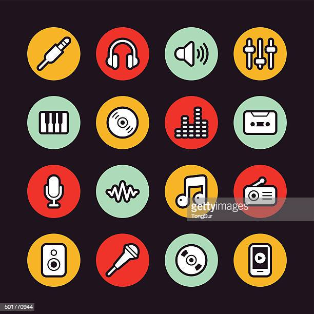 Music icons - Regular Outline - Circle