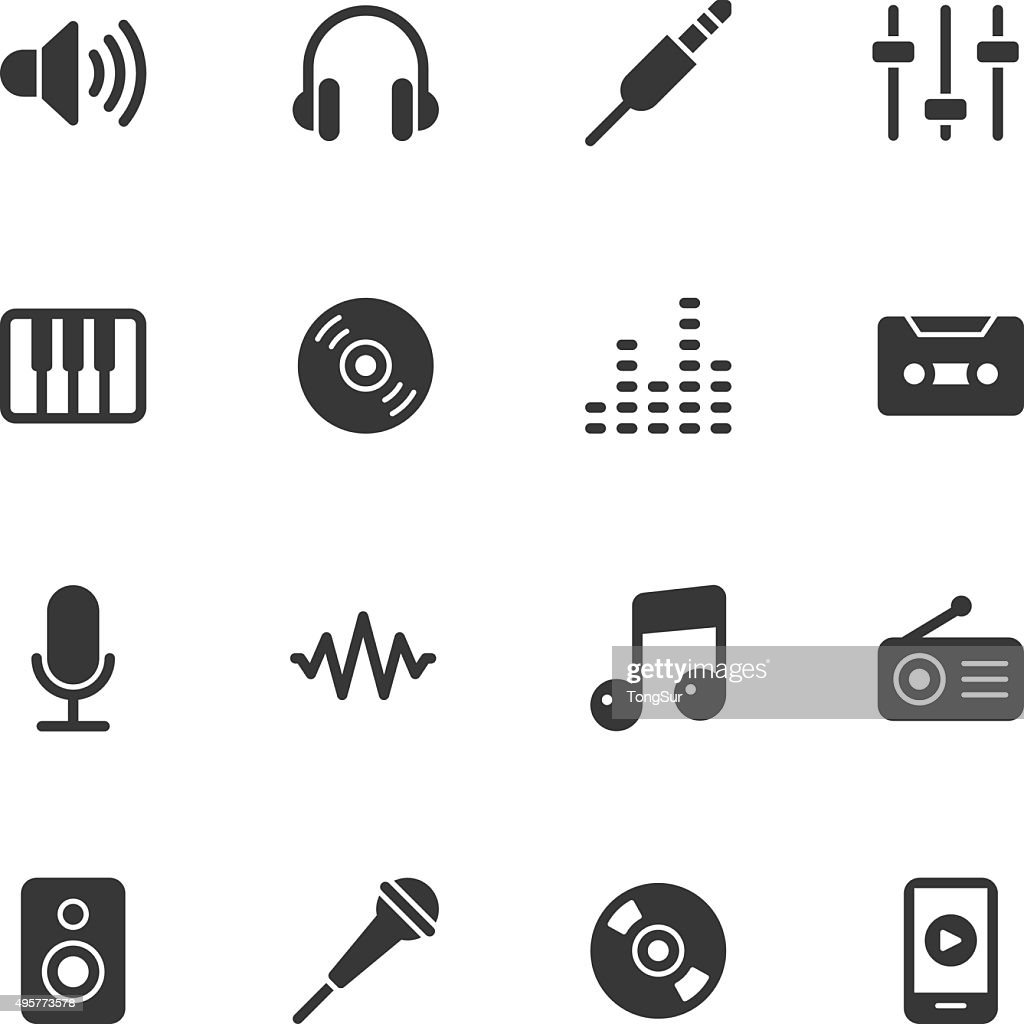 Music icons - Regular : stock illustration