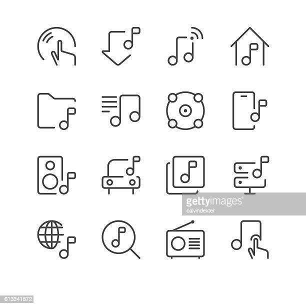 Music Icons set 2   Black Line series