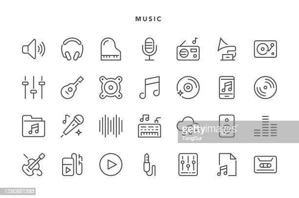 music icons - music stock illustrations