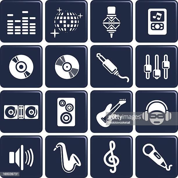 music icons - volume knob stock illustrations, clip art, cartoons, & icons