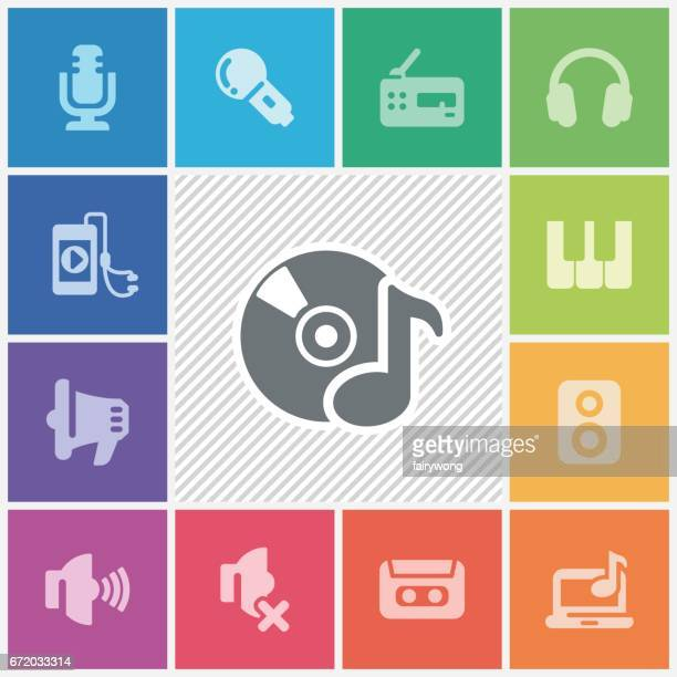 music icons - volume unit meter stock illustrations, clip art, cartoons, & icons