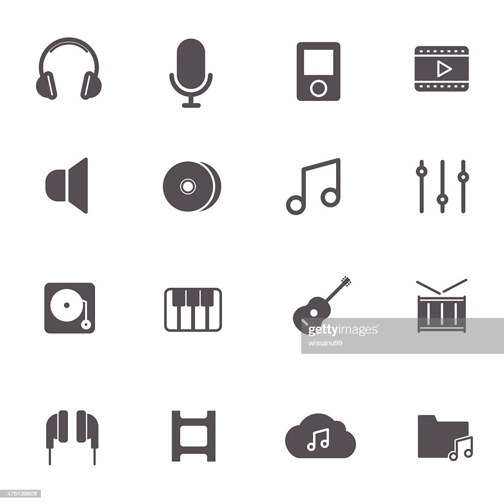 Music Icons. Vector illustration.