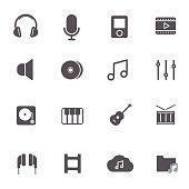 Music Icons. Vector illustration.