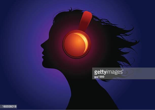 音楽 in my head - black studio点のイラスト素材/クリップアート素材/マンガ素材/アイコン素材