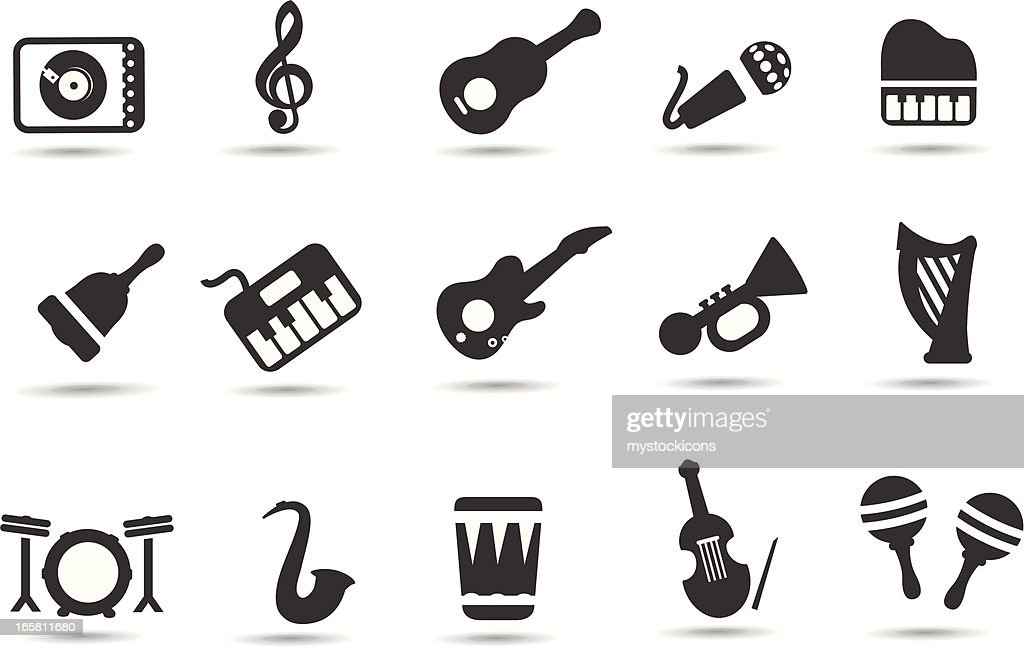 music instrument symbols vector art getty images