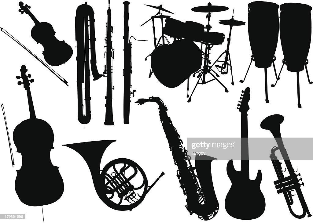 Music instrument : stock illustration