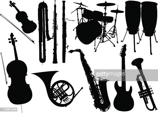music instrument - musical instrument stock illustrations, clip art, cartoons, & icons