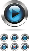 Music Media Computer Player Buttons vector