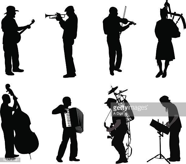 Music Men Vector Silhouette