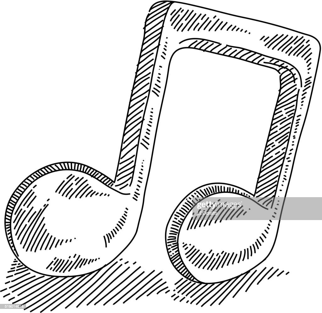 Music Note Drawing High Res Vector Graphic Getty Images