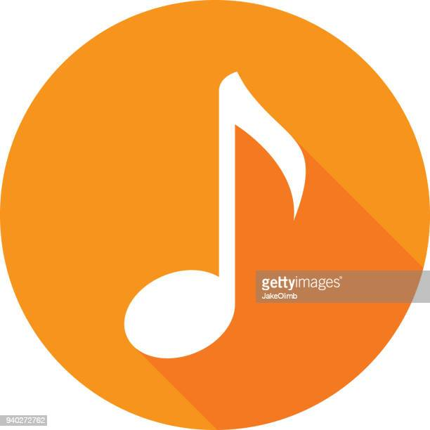 music note icon silhouette - music symbols stock illustrations, clip art, cartoons, & icons