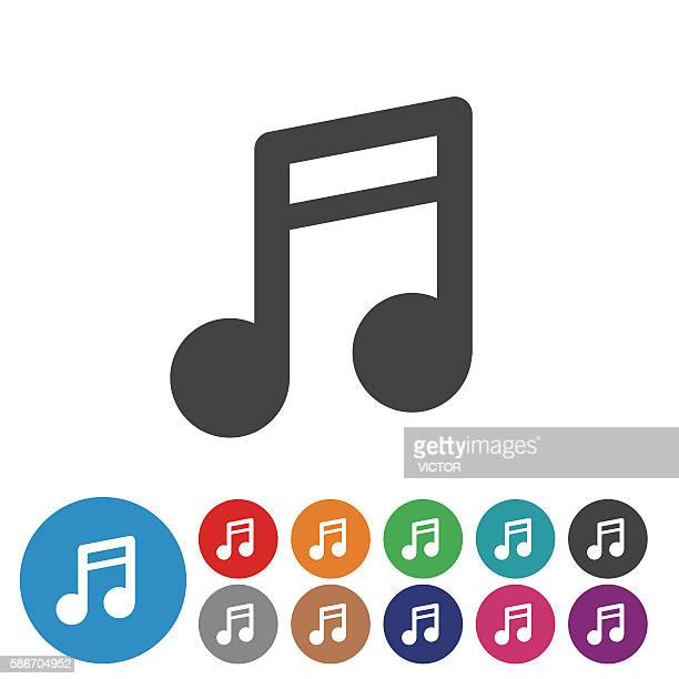 music note icons - graphic icon series - music symbols stock illustrations, clip art, cartoons, & icons
