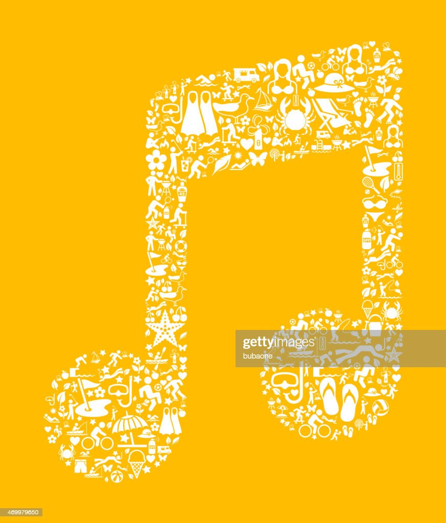 Music Note On Summer Icon Pattern Vector Art | Getty Images