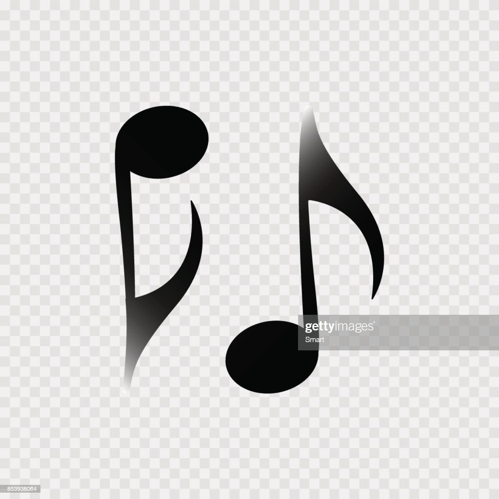 Music note on the grey background