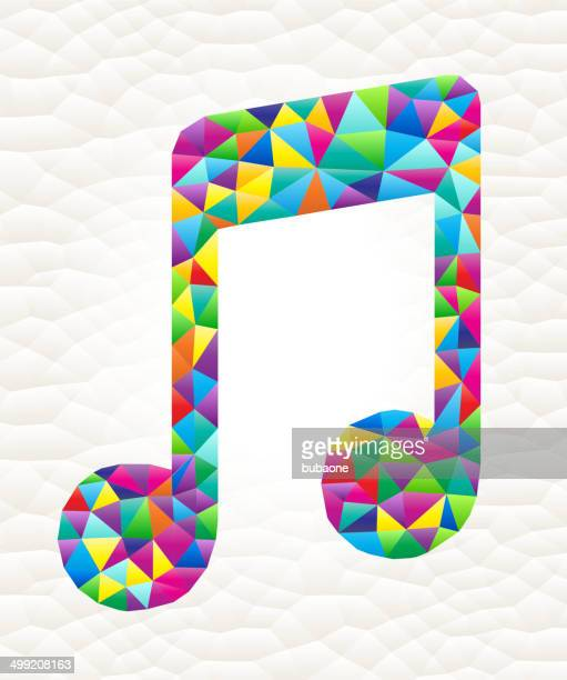 Music Note on triangular pattern mosaic royalty free vector art