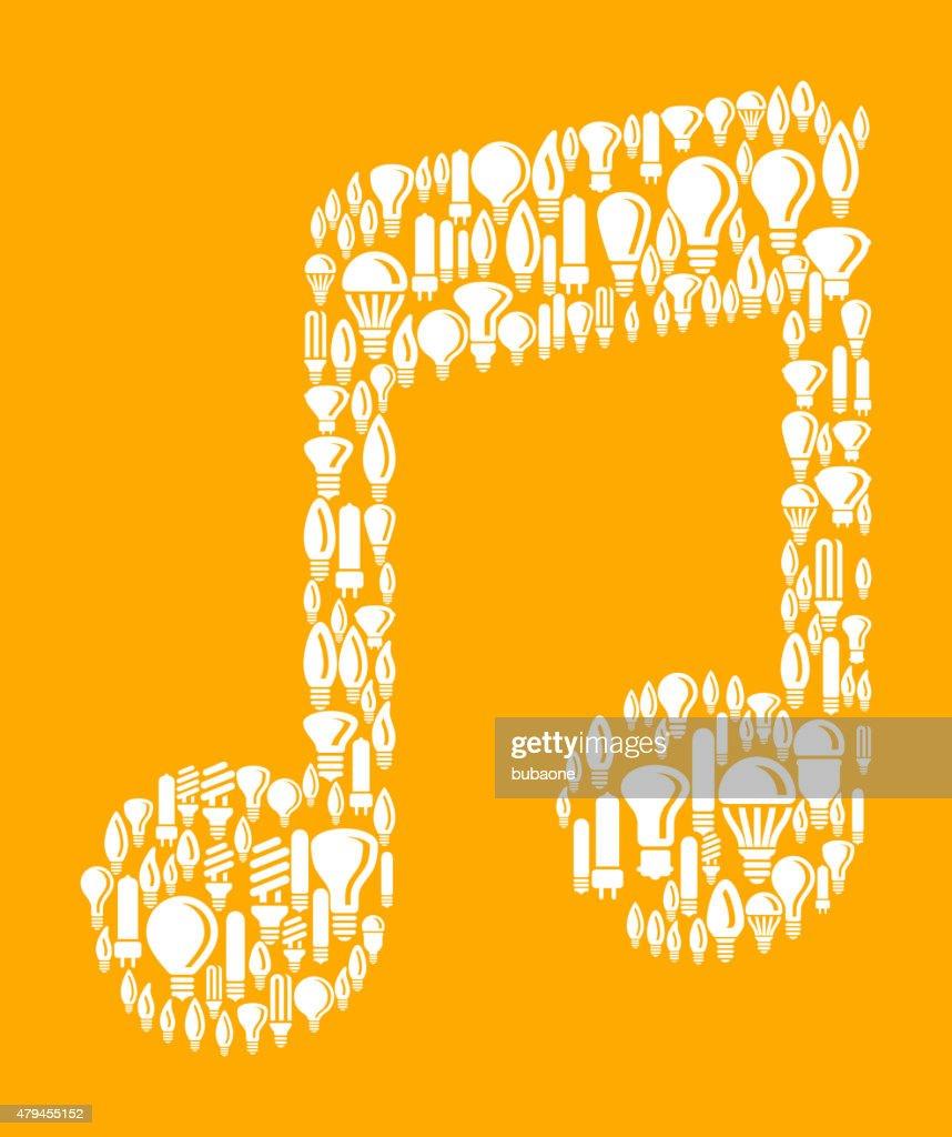 Music Note On Vector Lightbulb Pattern Background Vector Art   Getty ...