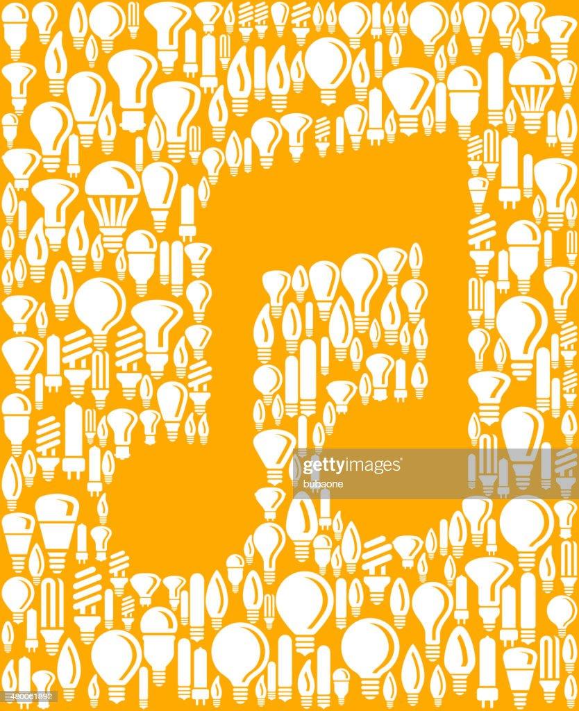 Music Note On Vector Lightbulb Pattern Background Vector Art | Getty ...