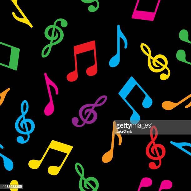 music note pattern colorful - musical note stock illustrations