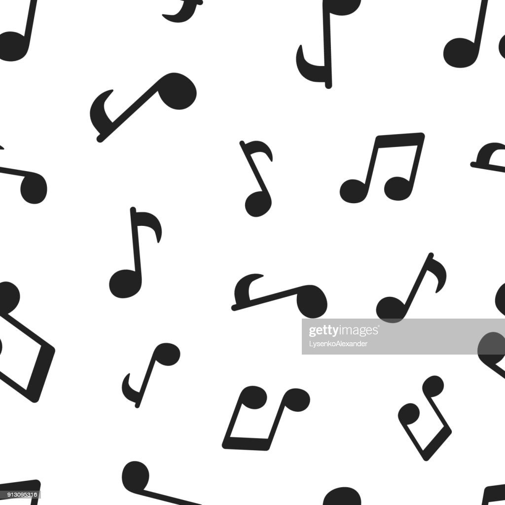 Music note seamless pattern background. Business concept vector illustration. Sound note symbol pattern.