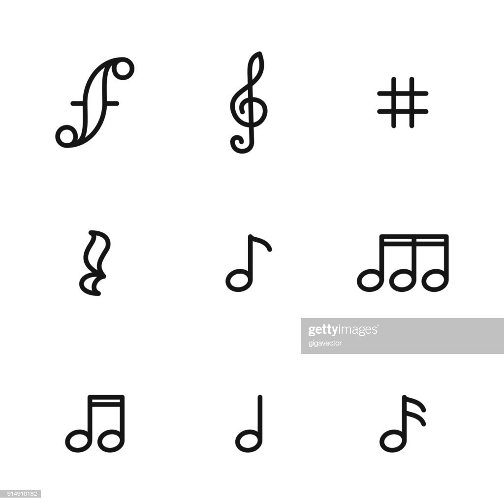 Music note vector icons