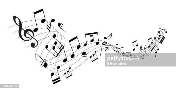 music note - treble clef stock illustrations, clip art, cartoons, & icons