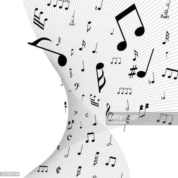 music note - music symbols stock illustrations, clip art, cartoons, & icons