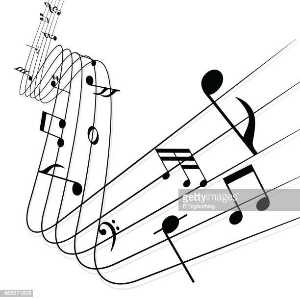 music note - sheet music stock illustrations, clip art, cartoons, & icons