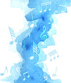 music note watercolor