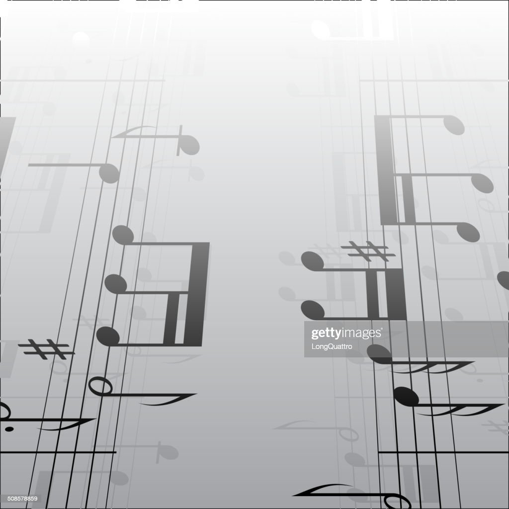 Music notes background : Vector Art