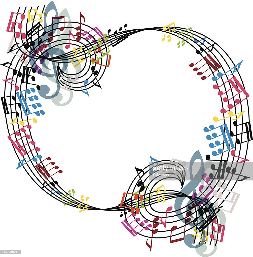 Music notes composition, stylish musical theme background