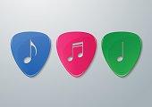 Music Notes Cut in Guitar Picks