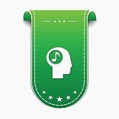 Music Notes Green Vector Icon Design