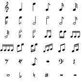 Music Notes Symbols Set