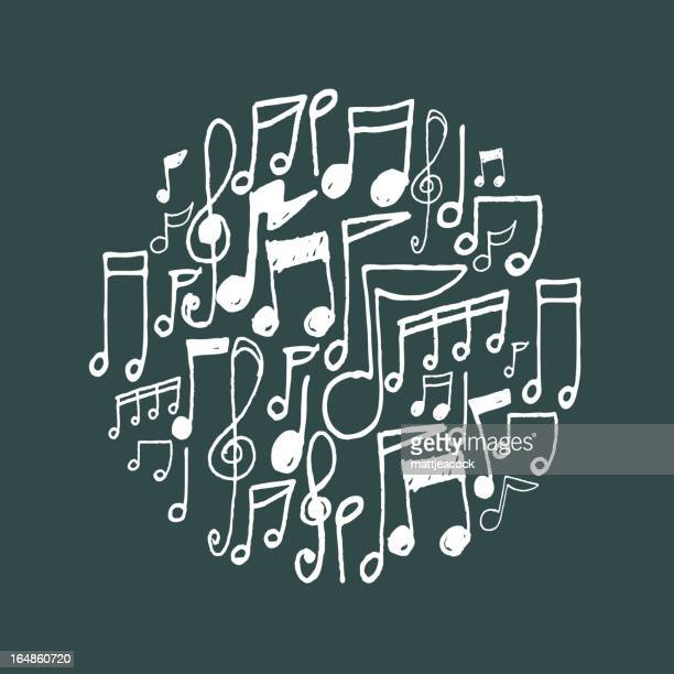 music notes - musical note stock illustrations