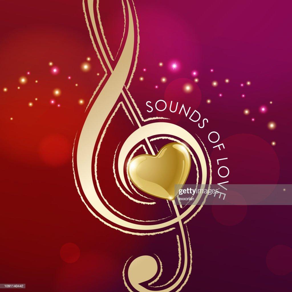 Music of Love : stock illustration