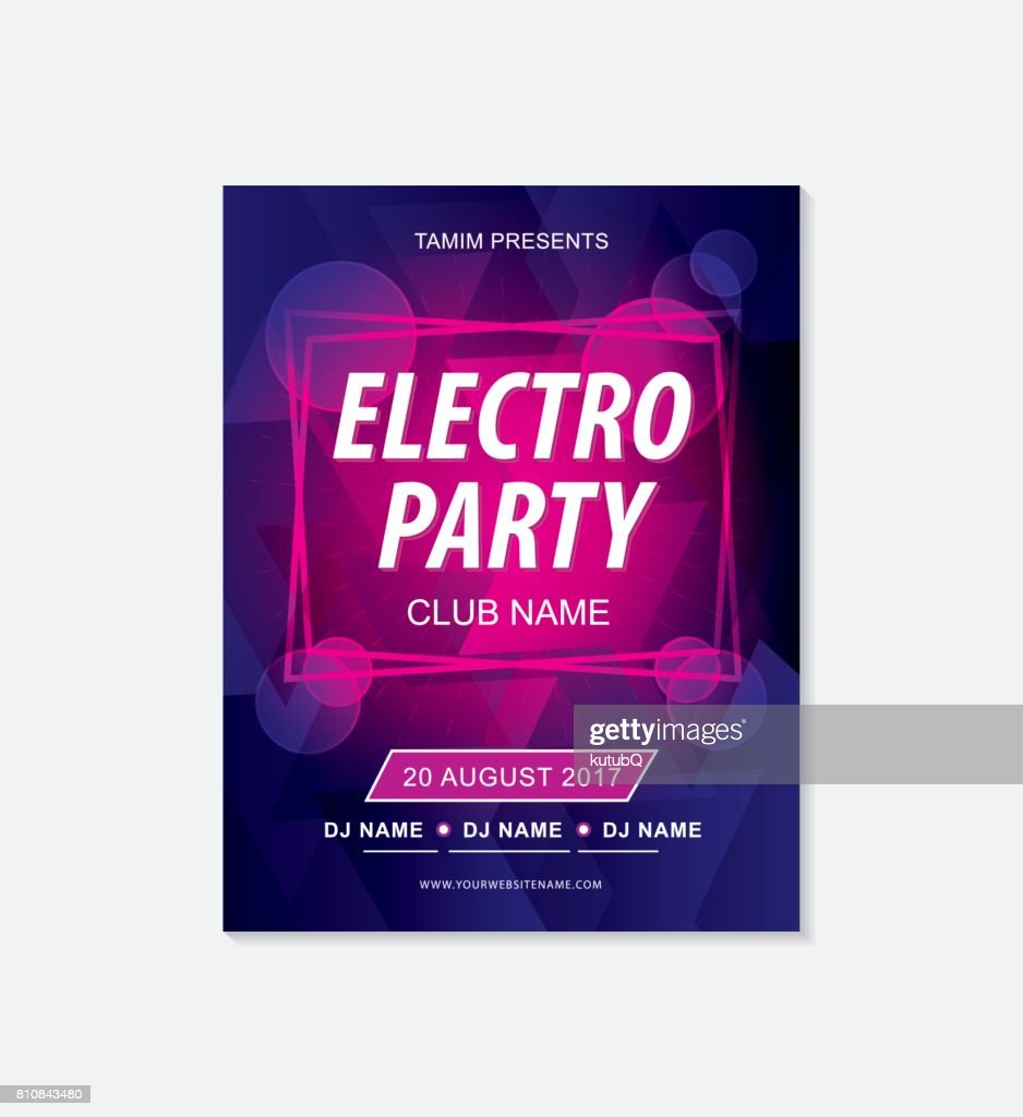 Music party flyer template : stock illustration