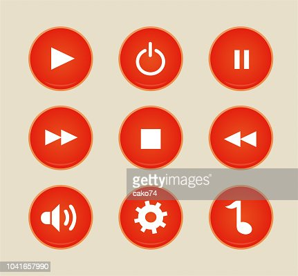 Music Player Vector Icons Stock Illustration - Getty Images