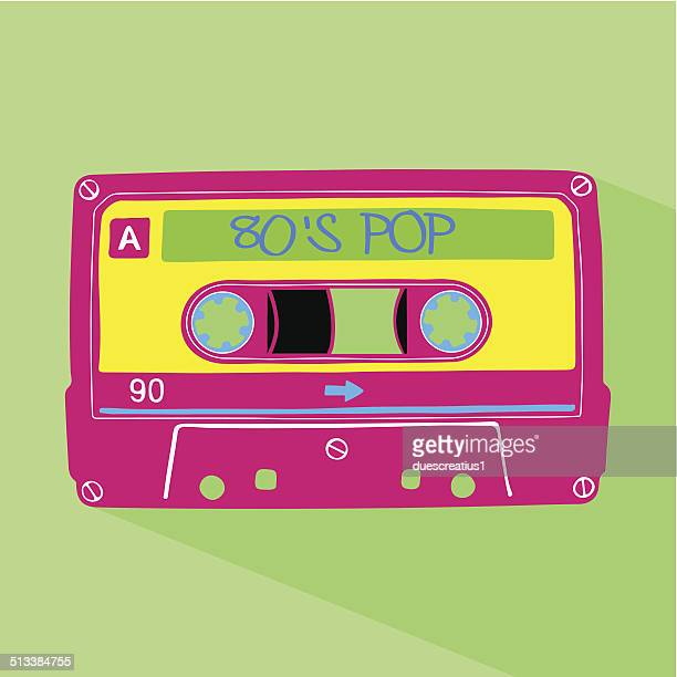 illustrazioni stock, clip art, cartoni animati e icone di tendenza di cassetta di musica pop - musicista di musica pop