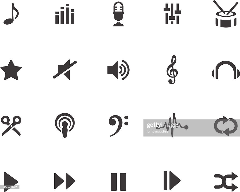 Music Production Symbols : stock illustration