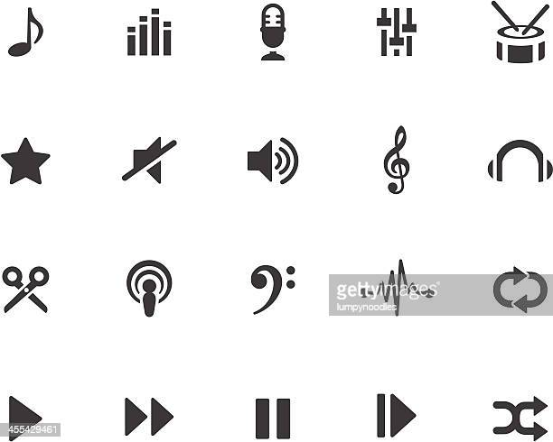 music production symbols - treble clef stock illustrations, clip art, cartoons, & icons