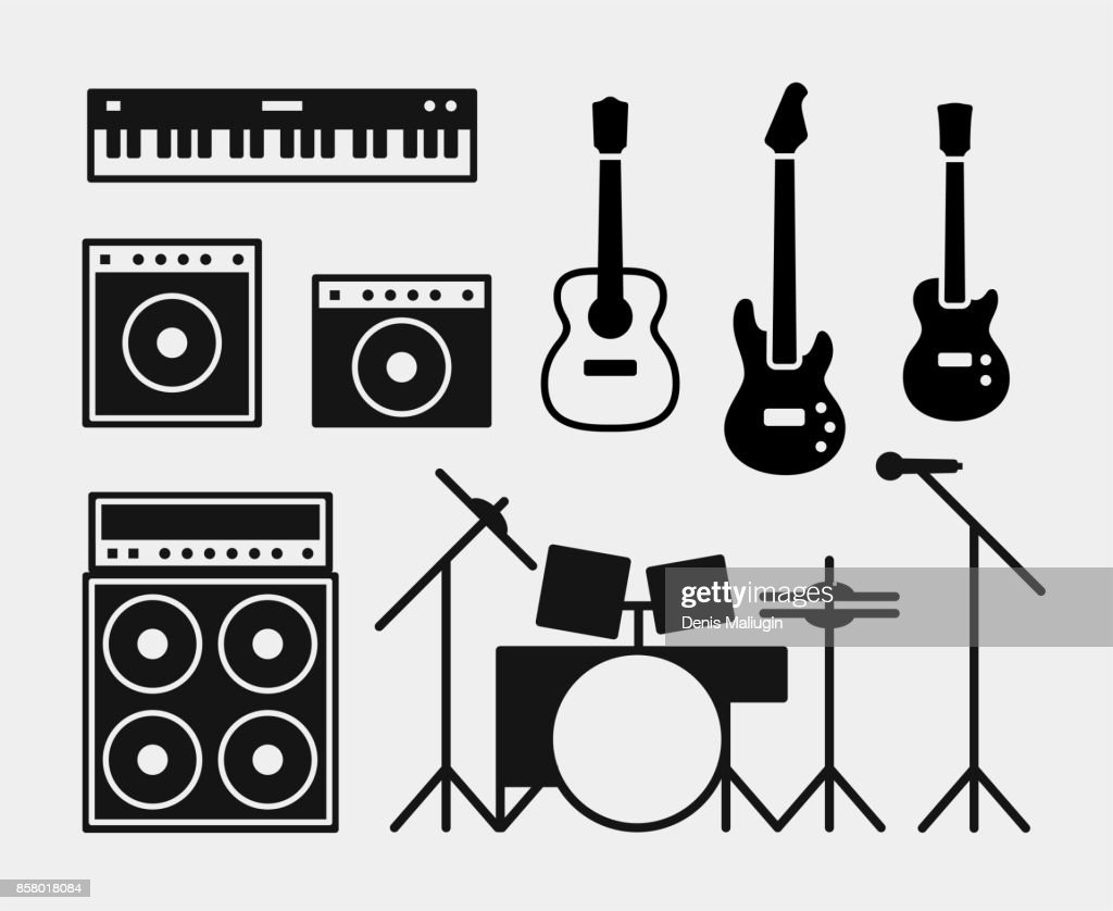 Music rock band instruments set