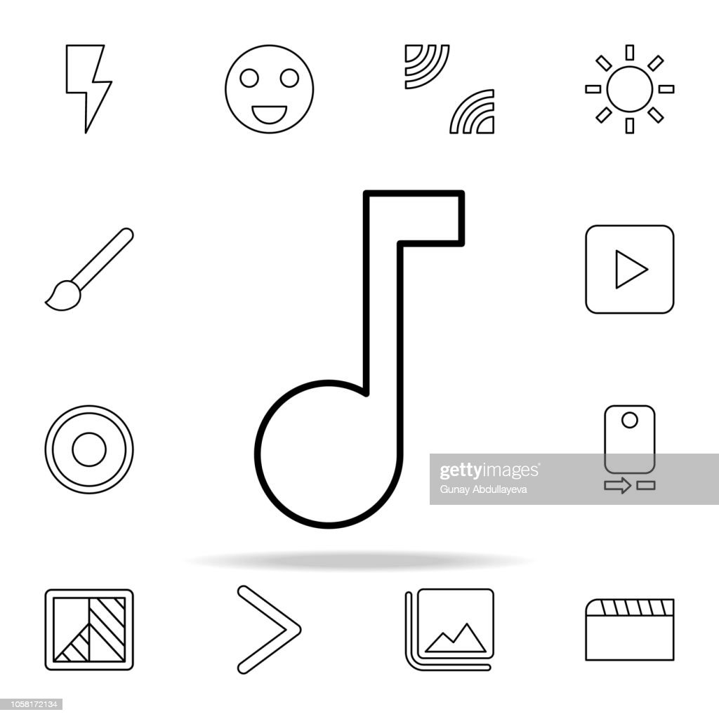 Music sign icon. Image icons universal set for web and mobile