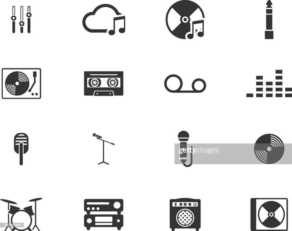 Music simply icons